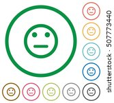 neutral emoticon flat color... | Shutterstock .eps vector #507773440