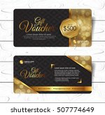 gift voucher template with... | Shutterstock .eps vector #507774649