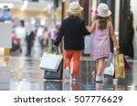 Kids Shopping. Cute Little Gir...