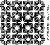 abstract geometric tile black... | Shutterstock .eps vector #507777580