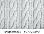 sweater or scarf texture large... | Shutterstock . vector #507778390