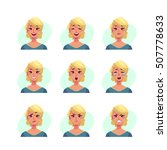 girl face expression  set of... | Shutterstock .eps vector #507778633