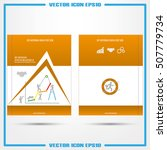 abstract brochure  report or... | Shutterstock .eps vector #507779734