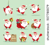 collection of christmas santa... | Shutterstock .eps vector #507780079
