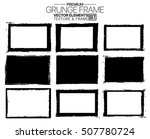 grunge frame set   abstract... | Shutterstock .eps vector #507780724