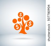 money tree icon vector . | Shutterstock .eps vector #507780904