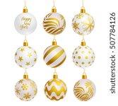 White Color Christmas Balls...