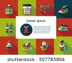 christmas and winter icons set | Shutterstock .eps vector #507785806