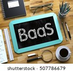 small chalkboard with baas.... | Shutterstock . vector #507786679