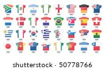 countries flags icons in jersey ... | Shutterstock . vector #50778766