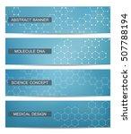 set of modern scientific...   Shutterstock .eps vector #507788194