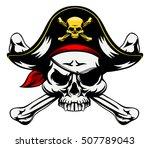 A Skull And Crossbones Pirates...