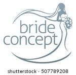 abstract wedding design concept ... | Shutterstock .eps vector #507789208