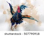 rooster  painted with... | Shutterstock . vector #507790918