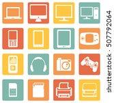 vector set of digital devices... | Shutterstock .eps vector #507792064