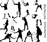 tennis players collection... | Shutterstock .eps vector #507796708
