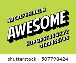 vector of retro slanted font... | Shutterstock .eps vector #507798424