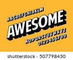 vector of retro slanted font... | Shutterstock .eps vector #507798430