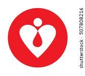 man heart logo design vector... | Shutterstock .eps vector #507808216