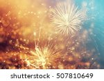 fireworks at new year and copy... | Shutterstock . vector #507810649