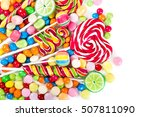 colorful candies and lollipops... | Shutterstock . vector #507811090