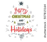 christmas greeting card | Shutterstock .eps vector #507815164
