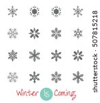 snowflake collection | Shutterstock .eps vector #507815218
