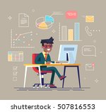 office work concept vector with ...   Shutterstock .eps vector #507816553