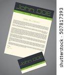 modern cover letter cv resume... | Shutterstock .eps vector #507817393