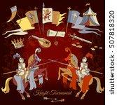knight tournament medieval... | Shutterstock .eps vector #507818320
