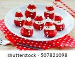strawberry santa festive...   Shutterstock . vector #507821098