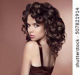 attractive girl with healthy... | Shutterstock . vector #507821914