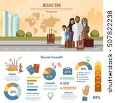 refugees  infographic. human... | Shutterstock .eps vector #507822238