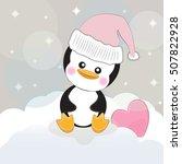 greeting card cute cartoon... | Shutterstock .eps vector #507822928