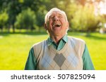 Elderly Man Laughing. Senior...