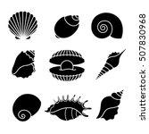 Vector Sea Shells And Pearl...