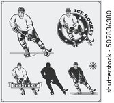 set of ice hockey labels ... | Shutterstock .eps vector #507836380