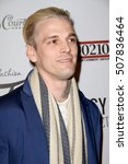 "Small photo of Aaron Carter arrives at the ""2016 Fashion Tails Adopt A New Attitude"" Coffee Book and Art Exhibit benefit on Oct. 6, 2016 at Lombardi House in Los Angeles, CA. Proceeds go to animal rescue programs."