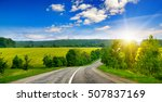country road and beautiful... | Shutterstock . vector #507837169
