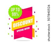 big sale  discount banner for... | Shutterstock .eps vector #507840526