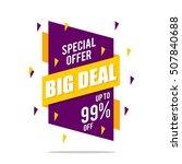 big sale  discount banner for... | Shutterstock .eps vector #507840688