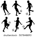 kids playing soccer   vector | Shutterstock .eps vector #507848893
