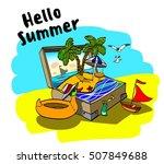 hello summer | Shutterstock .eps vector #507849688