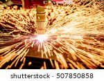 cnc laser plasma cutting of... | Shutterstock . vector #507850858