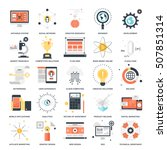 vector set of seo and... | Shutterstock .eps vector #507851314