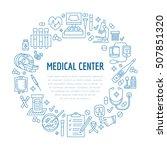 medical poster template. vector ... | Shutterstock .eps vector #507851320