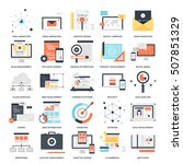 vector set of seo and... | Shutterstock .eps vector #507851329