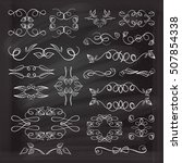 set of elegant floral elements... | Shutterstock .eps vector #507854338