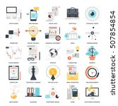 vector set of business and... | Shutterstock .eps vector #507854854