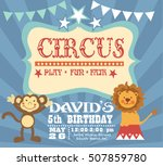 circus birthday invitation card | Shutterstock .eps vector #507859780